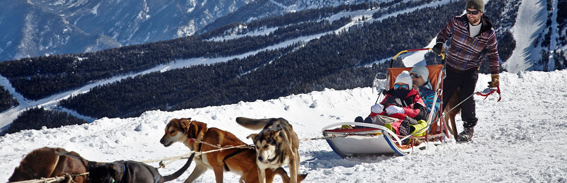 Dog sledding in Vallnord
