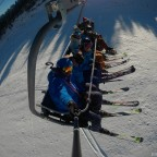 Going up to Arinsal on Les Fonts chairlift