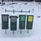 Fresh snow was accumulating on the bins of the slopes of Pal