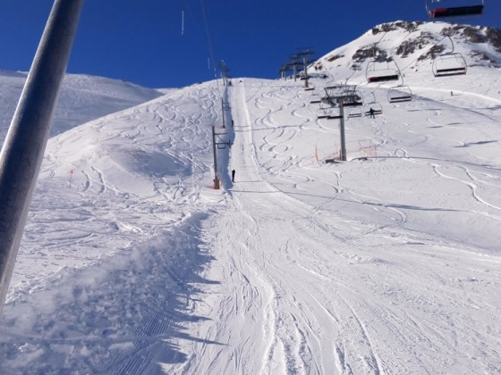 The draglift El Coll the fastest way to get to the top of Arinsal