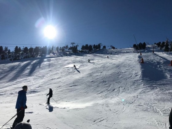 The bottom of the Eslalom slope