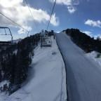 Half piste, half chairlift in La Tossa