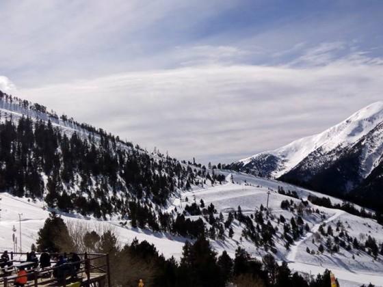 The view from Coll de la Botella terrace