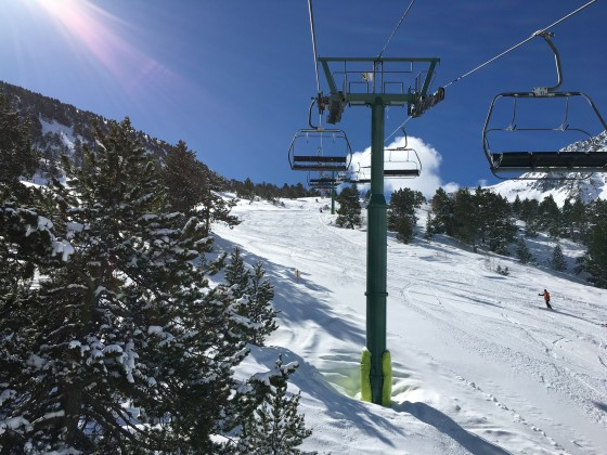 View from L'Abarsetar chairlift
