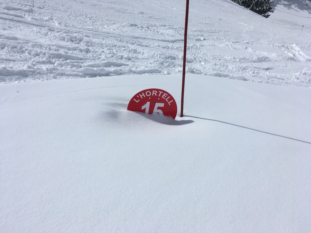 The signs of L'Hortell were totally covered by snow