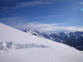 View from the top of the freeride area - 26/2/2011