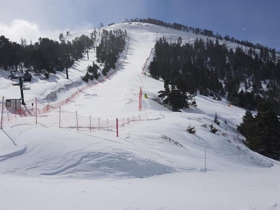 The view of the Estadi Joan Carchat slope