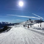 The sun was so strong today over the slopes of Pal