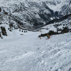 The red slope Portella was not groomed, a bit bumpy
