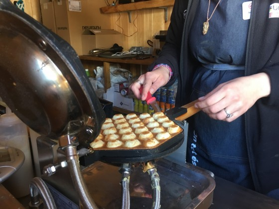 Yummy waffles on the Arinsal Terrace Creperie