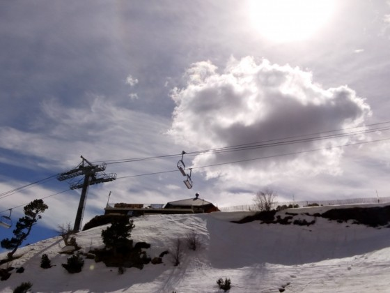 A view of Les Fonts chairlift
