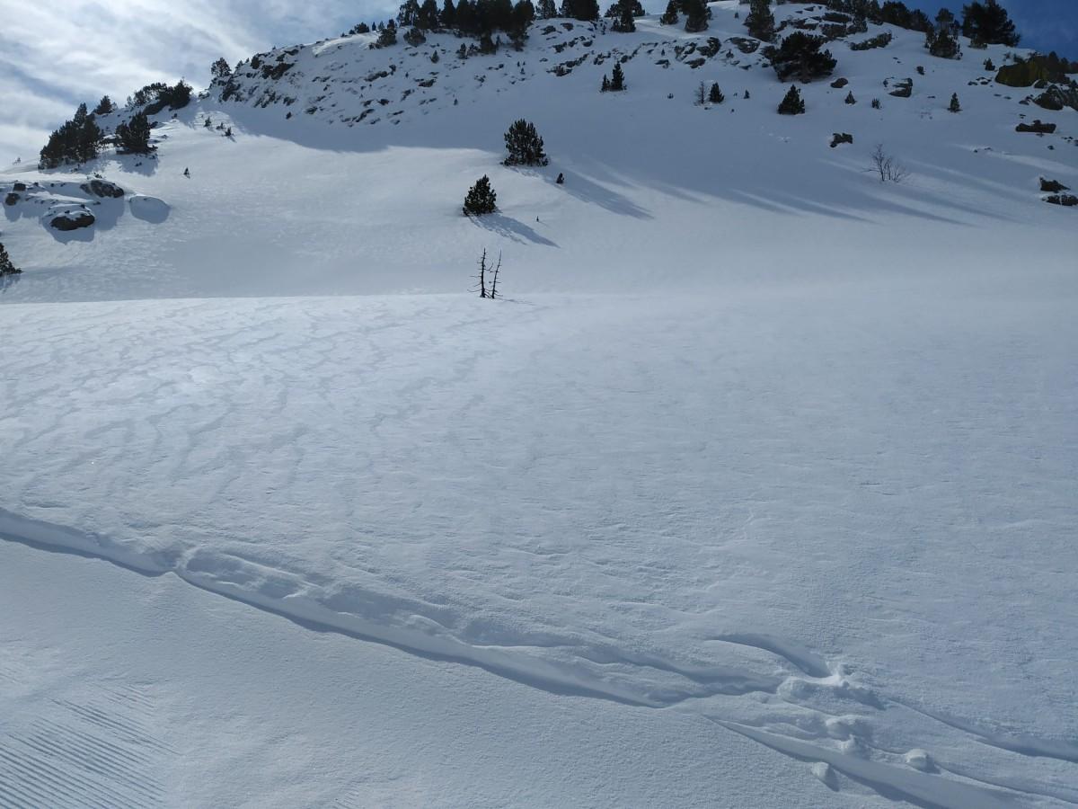 Untouched snow in Arcalís