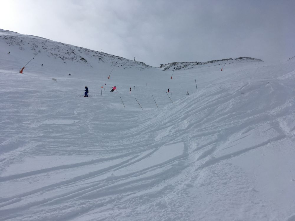 The off-piste of Arinsal was covered by snow