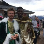 The kings Gaspar and Baltasar in Arinsal today