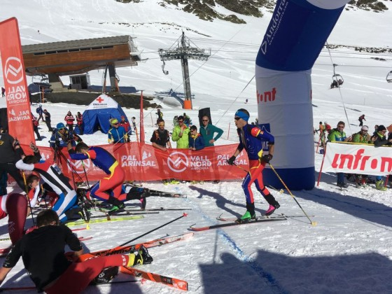 The Andorran skier arriving to the finish line