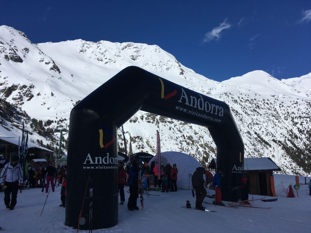 Free ski tester in Arcalis today