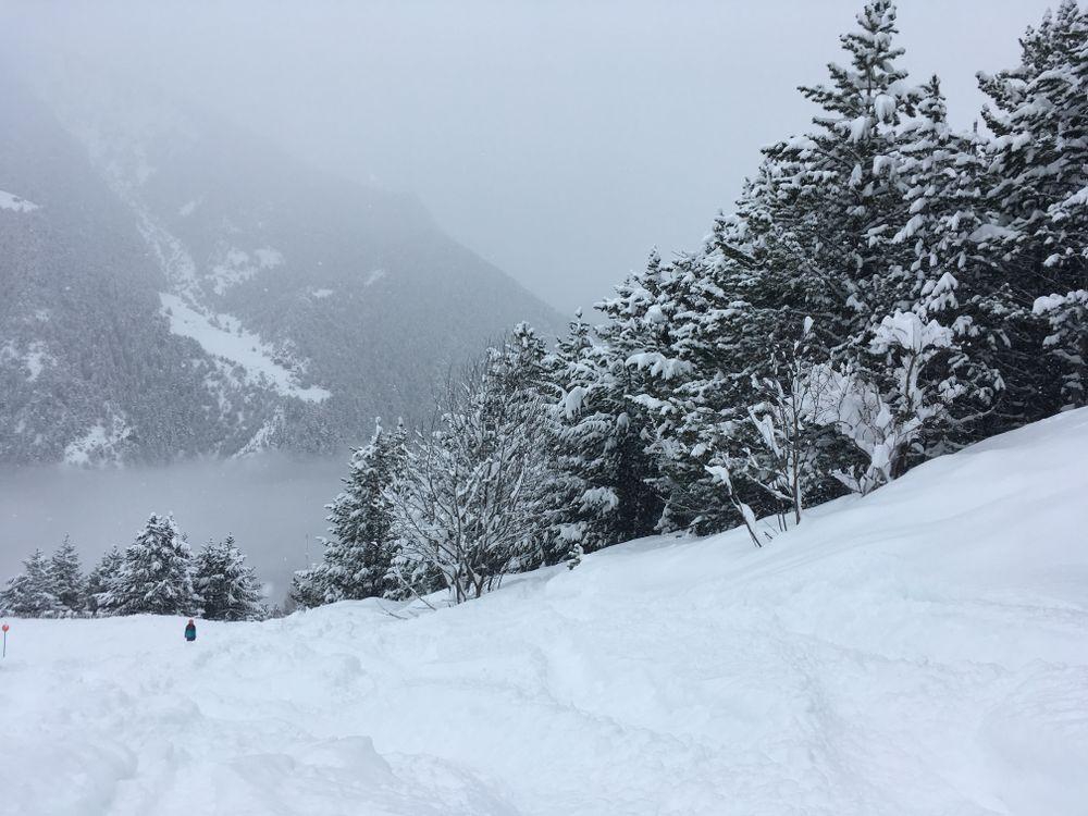 Marrades had plenty of snow