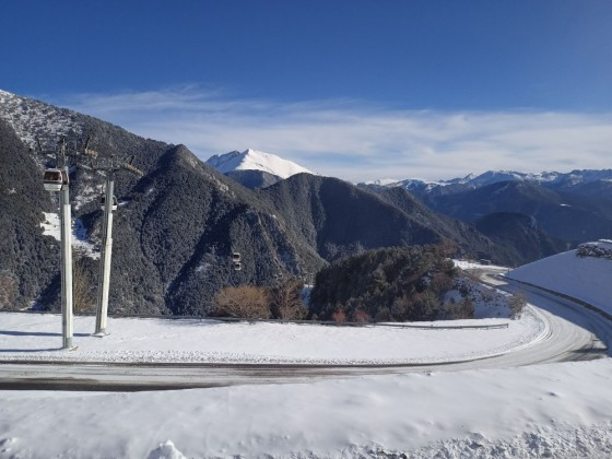 Beautiful view of the gondola of Arinsal