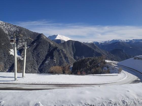 Beautiful view of the gondola of Arinsal