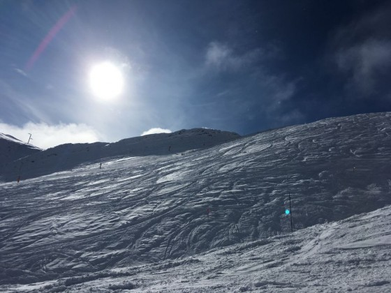 The black slope Tub del Coll was open today