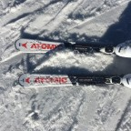 Our skis of the day from St Moritz rental shop