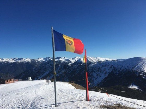 The Andorra flag at the Pic del Cubil