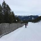Hiking up La Serra blue run in Pal