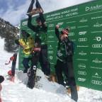 Snowboard men winners of the FWT2019