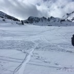 We had a great powder day in Arcalís drawing our lines