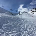 The blue slope Les Fonts has excellent snow