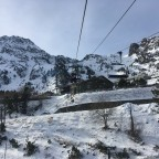 The view from the chairlift La basera