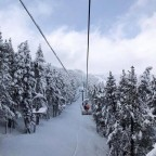 Powder day on La Serra I chairlift