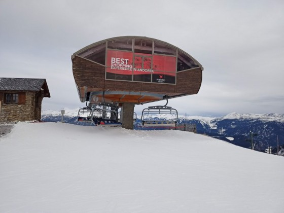 The top of El Cubil chairlift