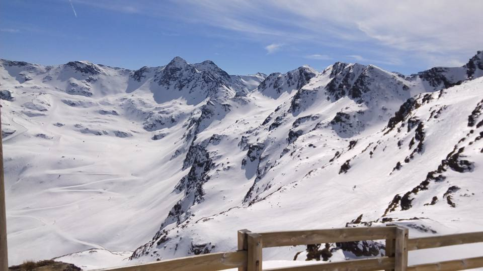 The view from the chairlift Creussants the area well known for its freeride options