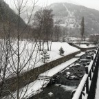 The village of Arinsal has turned white