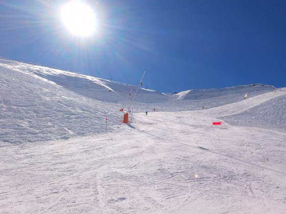 The red slope La Pala has great snow conditions this week