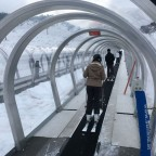 The magic carpet is the first lift you should try if it is your first time on the slopes