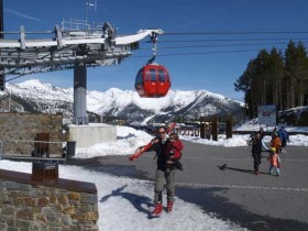 Gondola Arriving In Pal