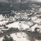 The white view from the gondola of Arinsal today