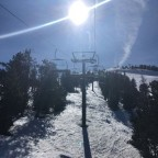 On the El Cubil chairlift