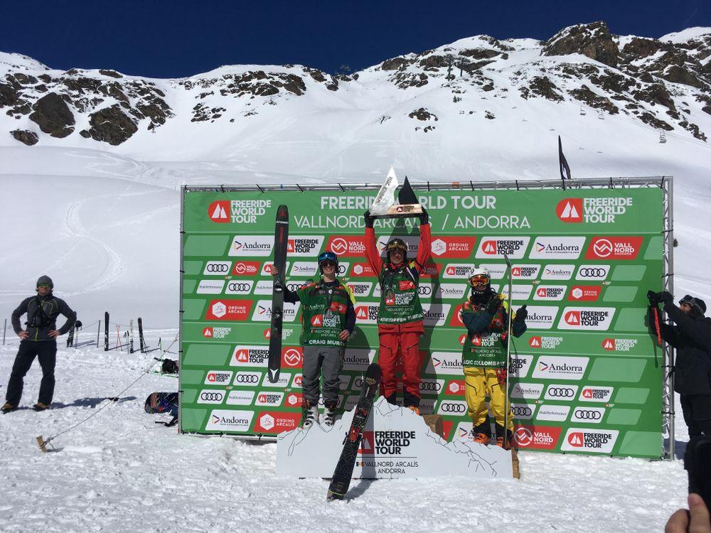 Ski Men podium for the Vallnord FWT 2018