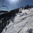 Blue skies on the Coll de la Botella chairlift