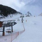 Great conditions for opening day in Arinsal - Les Fonts chairlift