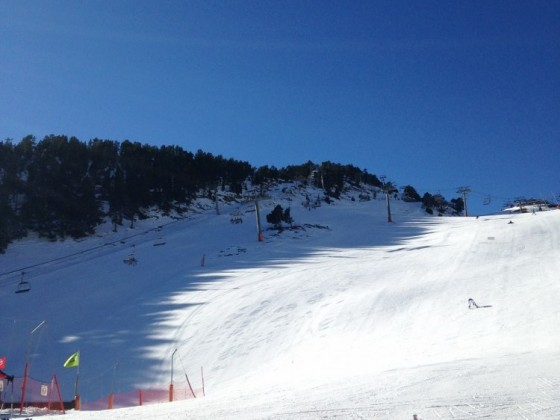 Looking up the slopes