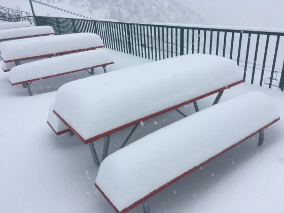 Over 30 cm of snow fell today