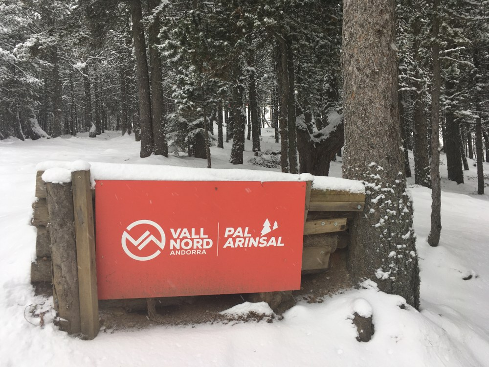 Pal Bikepark is now covered in snow