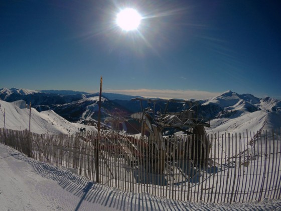 Sunny view of Pal from the top of Arinsal Port Negre