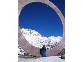 Metal monument in Arcalis