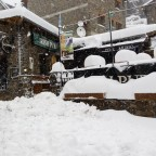The Derby Irish Pub blocked by the heavy snowfall