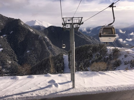 Beautiful views of the mountains from the gondola